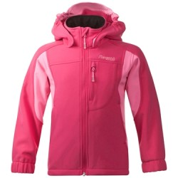 Reine - softshell dziecięcy Bergans of Norway / hot pink